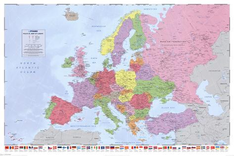 kart over mellom europa Politisk kart over Europa Posters hos AllPosters.no kart over mellom europa