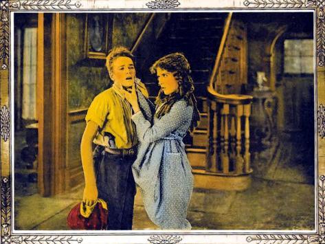 POLLYANNA, l-r: Howard Ralston, Mary Pickford on lobbycard, 1920. Kunsttryk