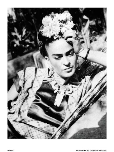 Portrait of Frida Kahlo Kunsttrykk