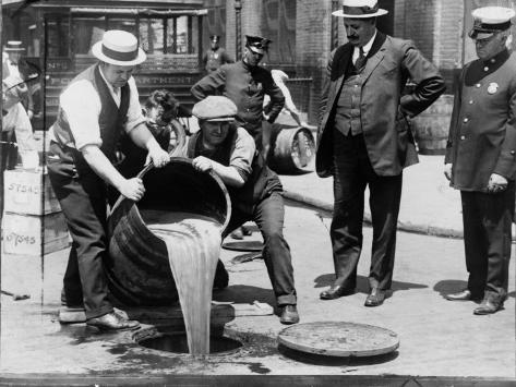 Prohibition Raid, New York City Foto
