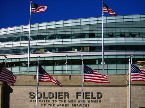 Soldier Field, Chicago, Illinois Fotografisk trykk