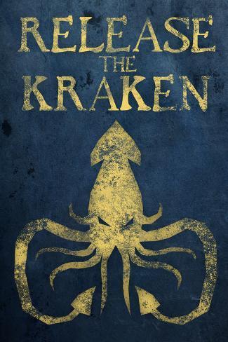 Release The Kraken Plastic Sign Plastikskilt