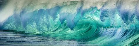 Wave Photo at Papohaku Beach, West End, Molokai, Hawaii Fotografisk trykk