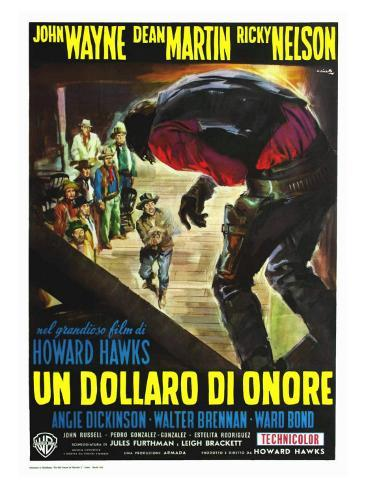 Rio Bravo, Italian Movie Poster, 1959 Kunsttryk