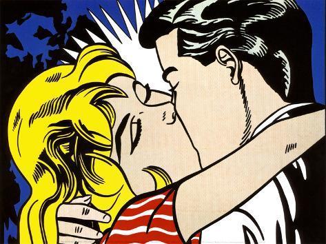Kiss II, c.1962 Kunsttryk