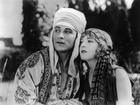 Rudolph Valentino and Vilma Bánky: The Son of The Sheik, 1926 Fotografisk trykk