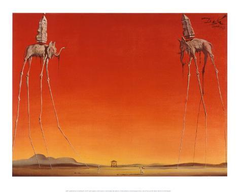 Elefantene, ca. 1948 Kunsttrykk