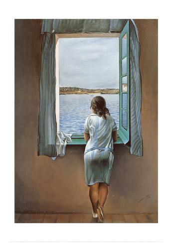 Pigen ved vinduet  Kunsttryk