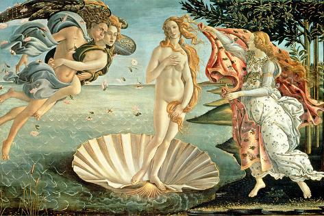 Venus fødsel, ca.1485 Giclée-tryk