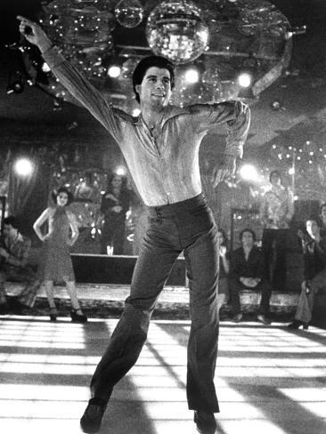 Saturday Night Fever, Fran Drescher (Background Left), John Travolta, 1977 Foto