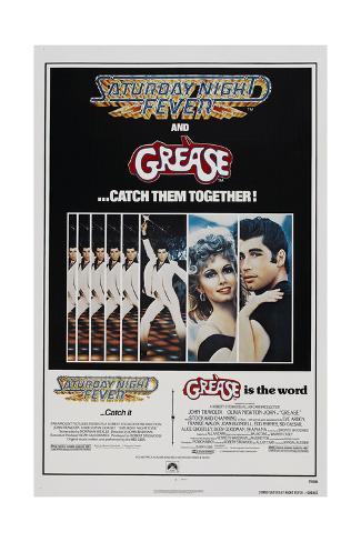 Saturday Night Fever / Grease Premium Giclee-trykk