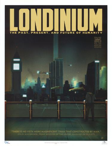 Serenity Movie Blue Sun Londinium Travel Poster Print Miniplakat