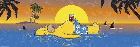Simpsons - Homer shark Dørplakat