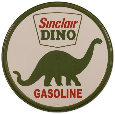 Sinclair Dino Gasoline Blikskilt