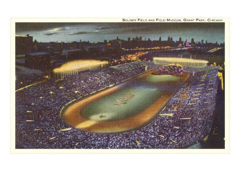 Soldier Field, Chicago, Illinois Kunsttrykk