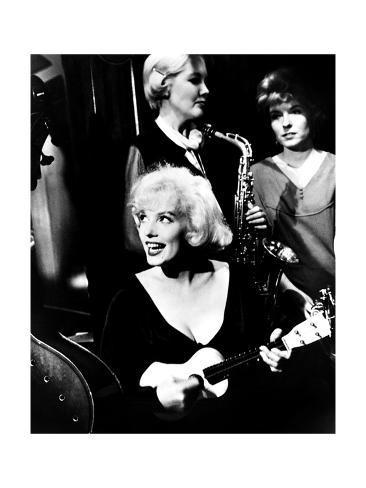 Some Like it Hot, Marilyn Monroe, 1959 Giclée-tryk