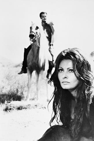 Sophia Loren, Omar Sharif, More Than a Miracle,1967 (C'Era Una Volta..) Fotografisk trykk