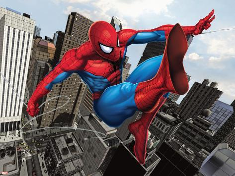 Spider-Man Swinging In the City Plakat