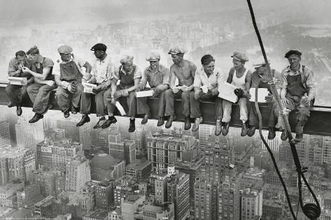 Stålarbejdere på Manhattan Plakat