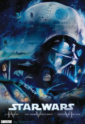 Star Wars - Blu Ray Original Trilogy Movie Poster Plakat