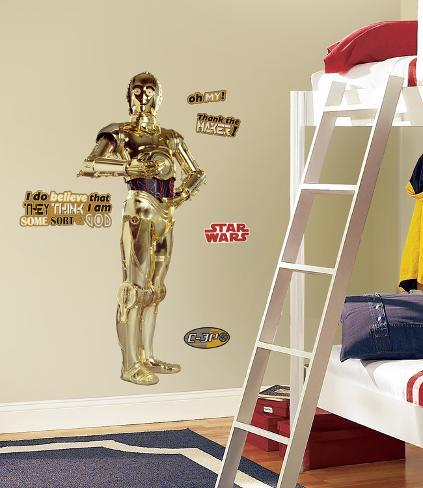 Star Wars Classic C3PO Peel & Stick Giant Wall Decal Wallstickers