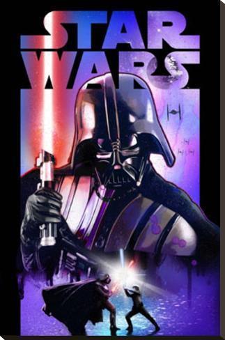 Star Wars - Darth Vader Lightsabre Opspændt lærredstryk