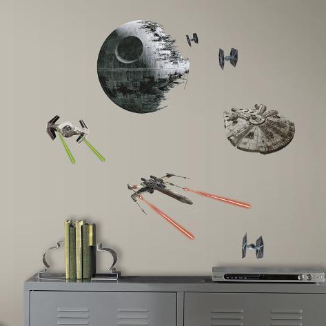 Star Wars: Ep VII Spaceships Peel & Stick Wall Decals Veggoverføringsbilde