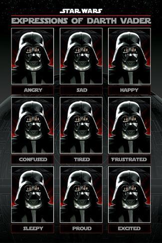 Star Wars - Expressions Of Darth Vader Plakat