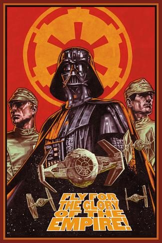 Star Wars - Fly for glory Plakat