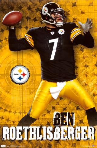 Steelers - Ben Roethlisberger Plakat