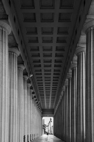 Soldier Field Colonnade Chicago BW Fotografisk trykk