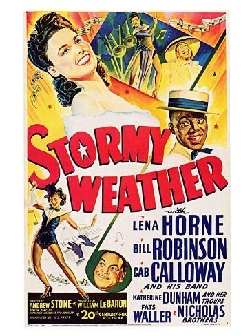 Stormy Weather, Swedish Movie Poster, 1943 Kunsttryk