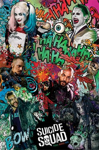 Suicide Squad- Crazy Collage Plakat