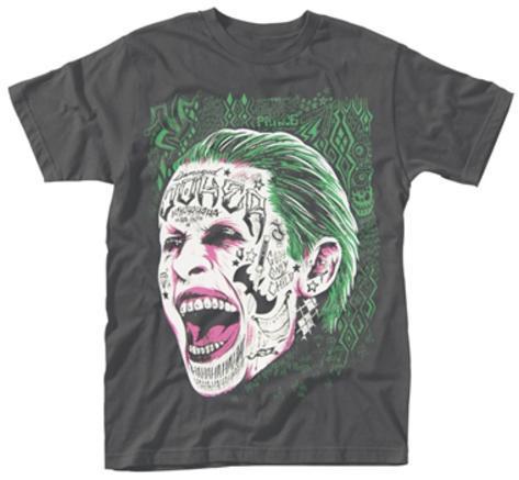 Suicide Squad- Joker Tattooed Face T-Shirt