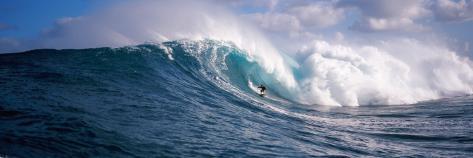 Surfer in the Sea, Maui, Hawaii, USA Premium fotografisk trykk