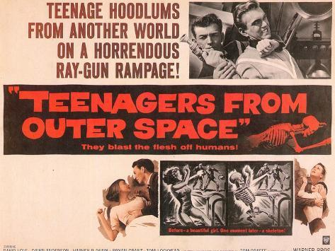 Teenagers From Outer Space, 1959 Kunsttrykk