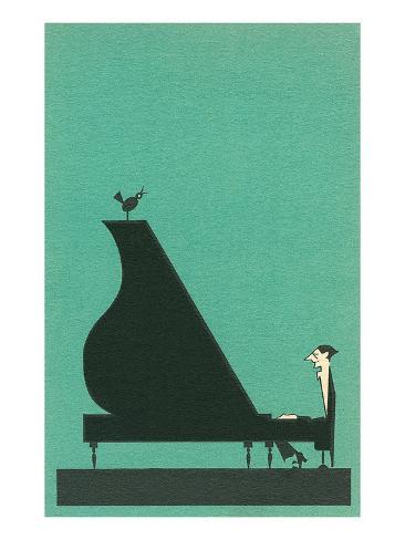 Tegneseriepianist Kunsttrykk