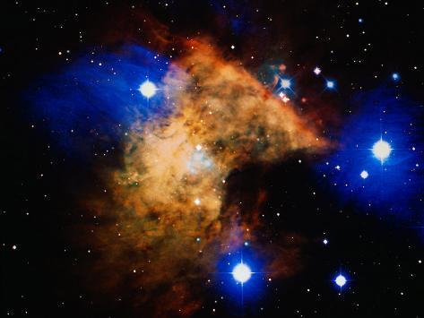 Stars and Nebula Fotografisk tryk
