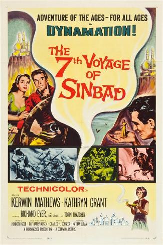THE 7TH VOYAGE OF SINBAD (aka THE SEVENTH VOYAGE OF SINBAD) Kunsttryk