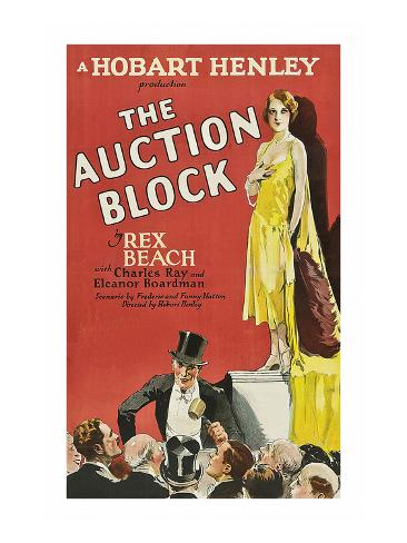 The Auction Block Premium Giclee-trykk