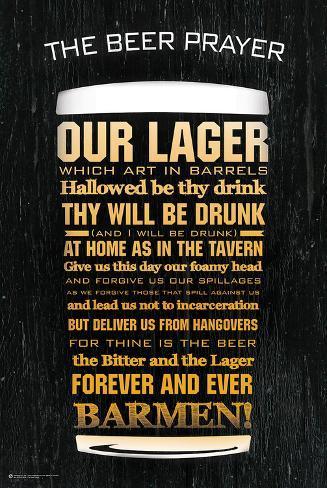 The Beer Prayer Plakat