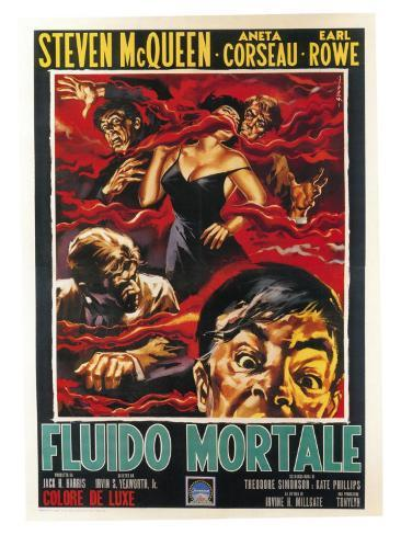 The Blob, Italian Movie Poster, 1958 Kunsttryk