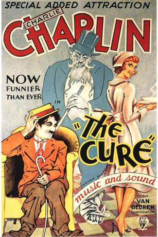 The Cure Movie Charlie Chaplin Plastic Sign Plastskilt