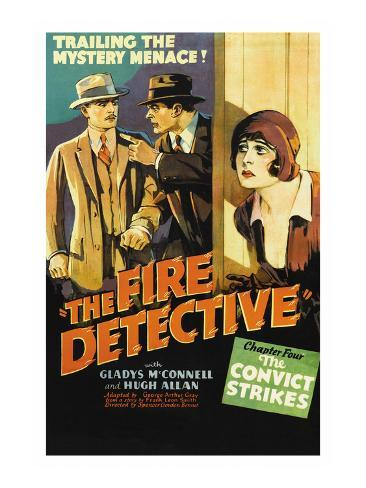 The Fire Detective Premium Giclée-tryk