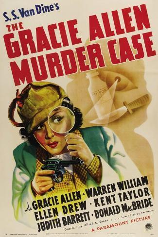 The Gracie Allen Murder Case, Gracie Allen, 1939 Kunsttryk