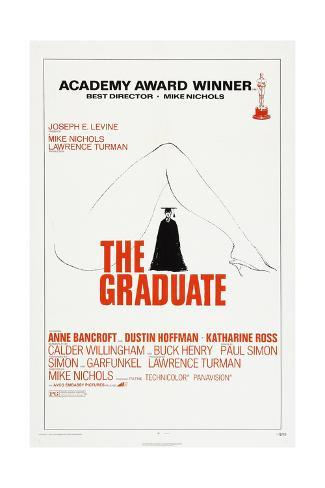 THE GRADUATE, US poster, Dustin Hoffman, 1967 Kunsttrykk