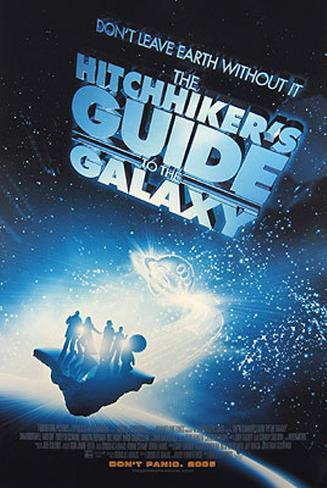 The Hitchhiker's Guide to the Galaxy Dobbeltsidet plakat