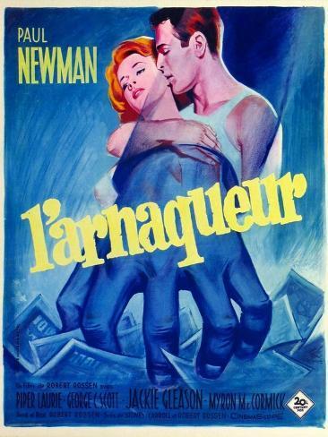 The Hustler, French Movie Poster, 1961 Kunsttryk