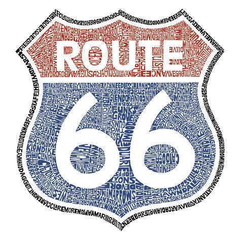 The Legendary Route 66 Kunsttryk