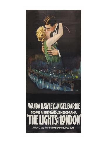 The Lights of London Kunsttryk